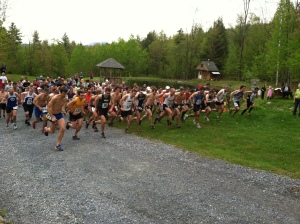 On your mark, get set, go! Race start by the pond at Sleepy Hollow!